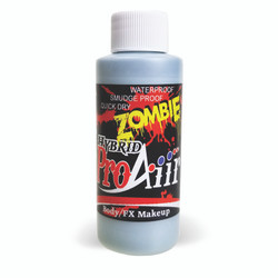 ICE BLUE 'ZOMBIE' ProAiir Hybrid Waterproof Liquid Face and Body Paint for Airbrush
