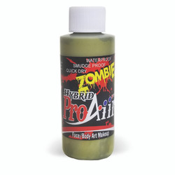 SWAMP MOSS GREEN 'ZOMBIE' ProAiir Hybrid Waterproof Liquid Face and Body Paint for Airbrush