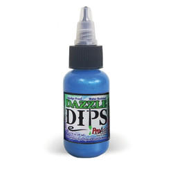DAZZLE BLUE - DIPS ProAiir Hybrid Waterproof Face and Body Paint for Brush (liquid)