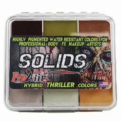 THRILLER SOLIDS PALETTE ProAiir Water Resistant Face and Body Paint for Brush (cake)