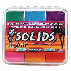 TROPICAL SOLIDS PALETTE ProAiir Water Resistant Face and Body Paint for Brush (cake)