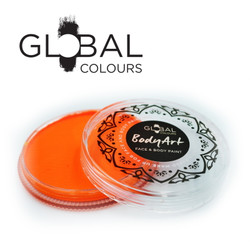 NEON UV ORANGE Face and Body Paint Makeup by Global Colours 32g *New Formula*