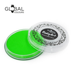 NEON UV GREEN Face and Body Paint Makeup by Global Colours 32g *New Formula*