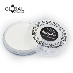 NEON UV WHITE Face and Body Paint Makeup by Global Colours 32g *New Formula*