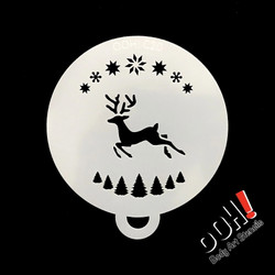 Reindeer Christmas Flips Stencil by Ooh! Stencils C20