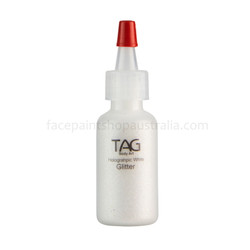 HOLO WHITE Cosmetic Glitter Dust (loose) by Tag Body Art