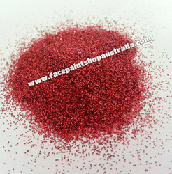 Cosmetic glitter ruby red