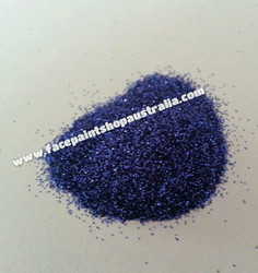 Cosmetic glitter royal blue