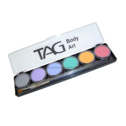 Tag professional face and body paint palette pastel x 6 colours