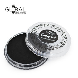 STRONG BLACK Face and Body Paint Makeup by Global Colours 32g *New Formula*