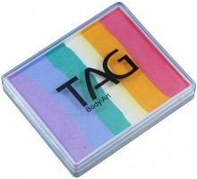 TAG bodyart rainbow face paint cake 50g fairy floss available now at Face Paint Shop Australia