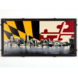 Baltimore Skyline w/ Maryland Flag
