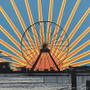 Ferris Wheel Sunset Artwork Detail