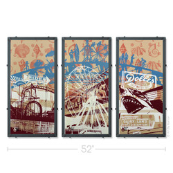 Ocean City Triptych Ocean City Silk Screen Prints
