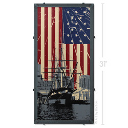 USS Constellation Silk Screen Artwork