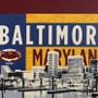 Old Bay Baltimore Skyline Artwork Detail