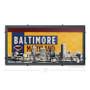 Old Bay Baltimore Skyline Silk Screen Artwork
