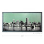 Baltimore Skyline with City Map Silk Screen Art