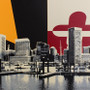 Baltimore Skyline with Maryland Flag Artwork Detail