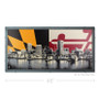 Baltimore Skyline with Maryland Flag Silk Screen Artwork