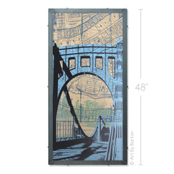 Clemente Bridge, Pittsburgh, PA Silk Screen Art