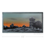 Patterson Park Pagoda at Sunset Silk Screen Art