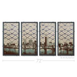 Baltimore Skyline Silk Screen Art