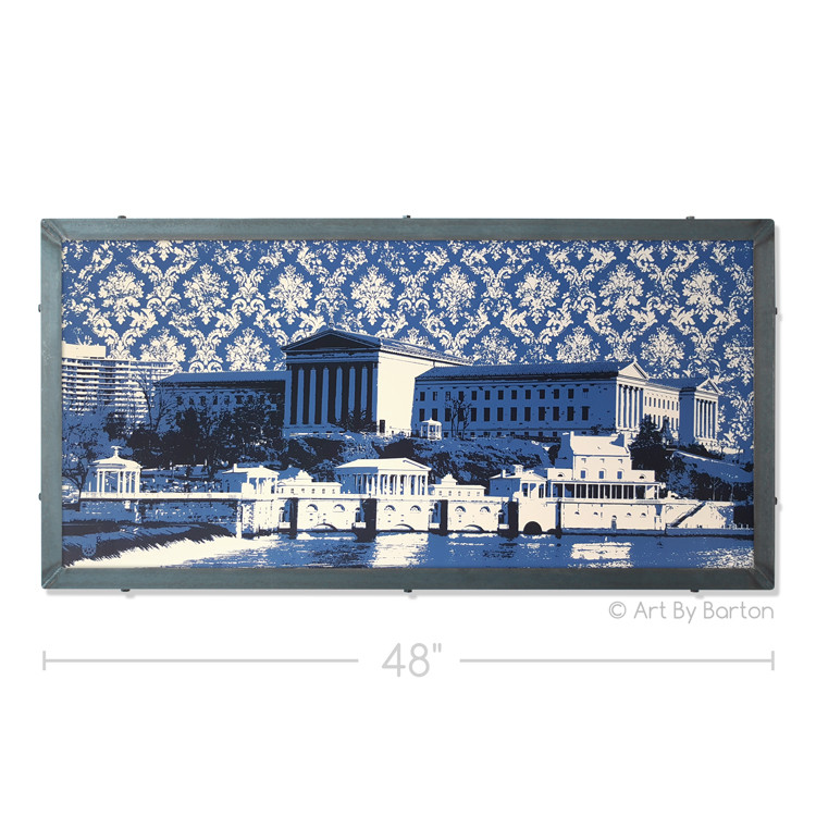 Philly Art Museum and Waterworks Silk Screen Print