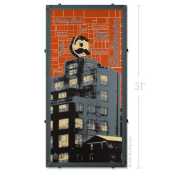 Boh Town Silk Screen Print