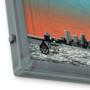 Port Sunset Silk Screen Print Welded Steel Frames