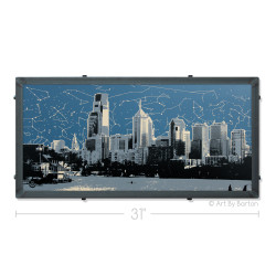 Philly Star Map Silk Screen Print