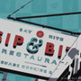 Sip & Bite Silk Screen Print Detail
