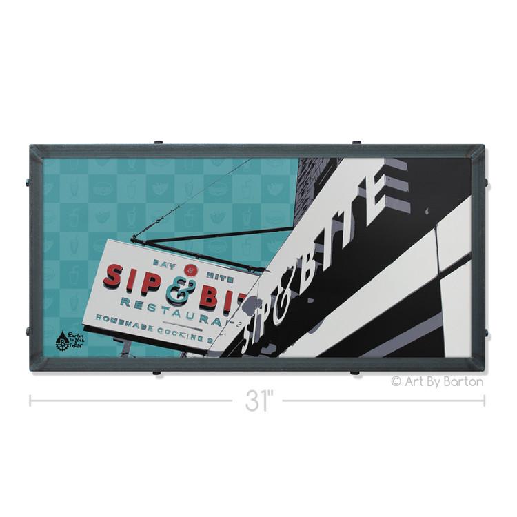 Sip & Bite Silk Screen Print