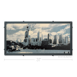 Philly with Clouds Silk Screen Print