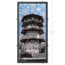 Winter Pagoda Silk Screen Artwork