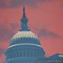 Capitol Sunset Washington D.C. Silk Screen Print Detail