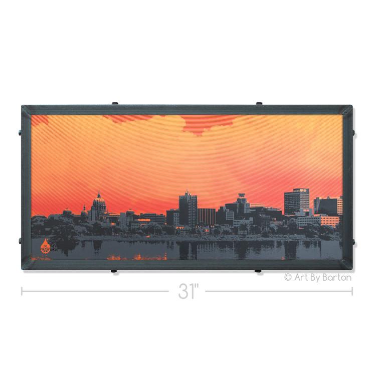 Harrisburg Sunset Art By Barton Silk Screen Art