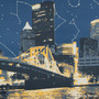 Pittsburgh Skyline Starmap Panoramic Detail