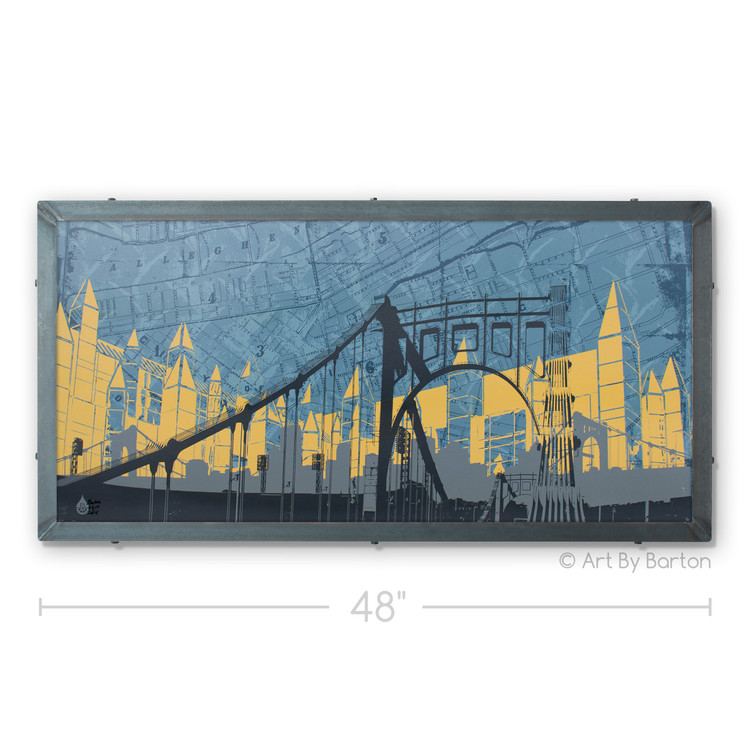 Abstract Pittsburgh Silk Screen Art