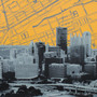 Pittsburgh Skyline Map Artwork Detail