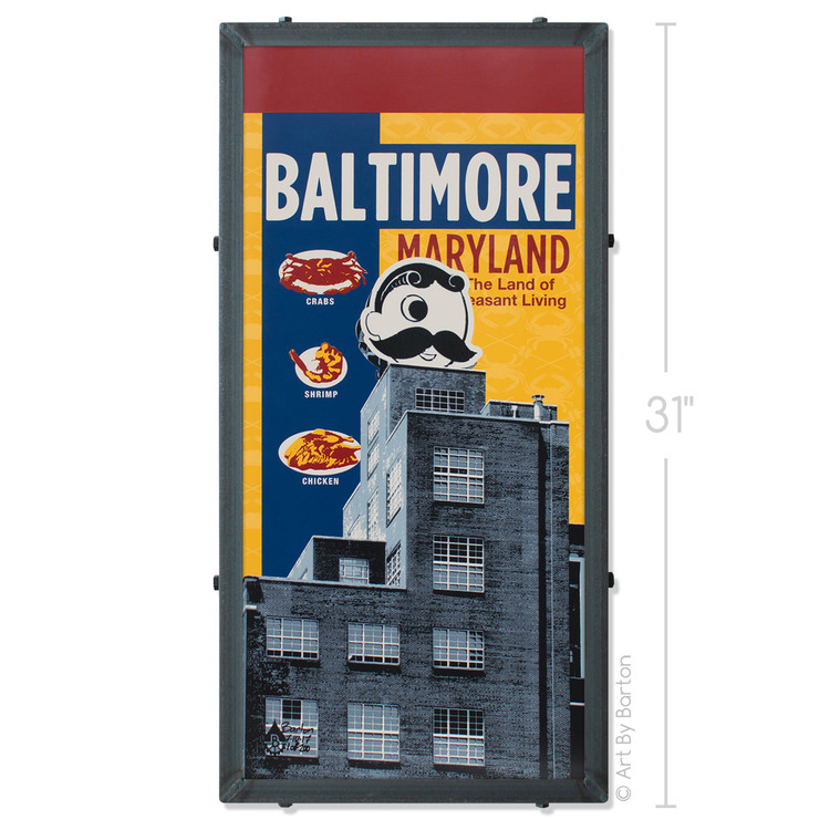 Old Bay Natty Boh Silk Screen Art
