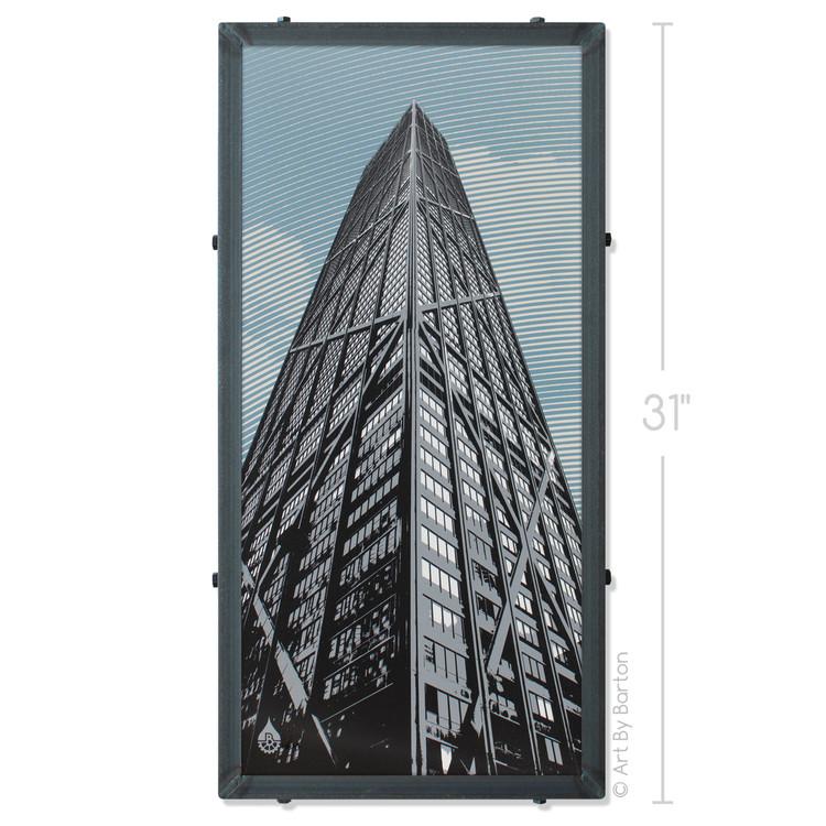 John Hancock Building Art By Barton Silk Screen Print