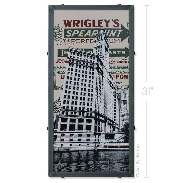 Wrigley Building Silk Screen Artwork by Charlie Barton
