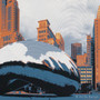 Chicago Silk Screen Print