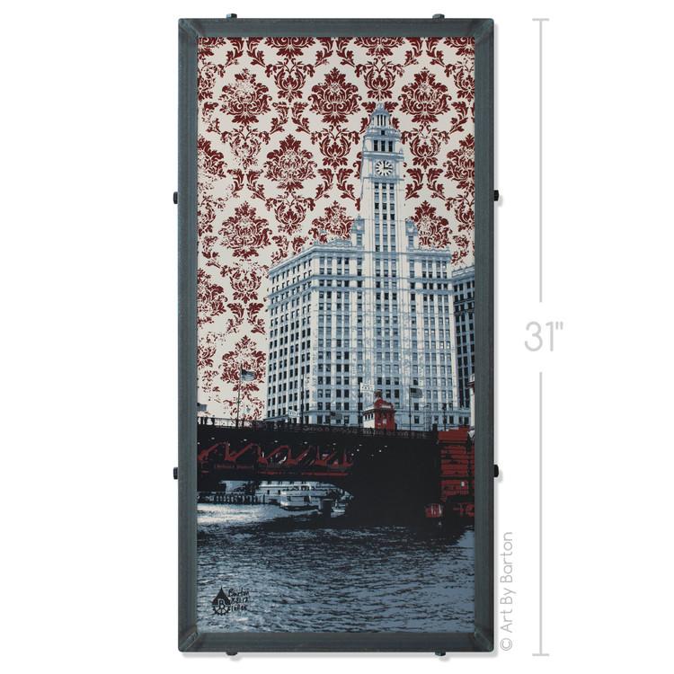 Chicago Wrigley Building Silk Screen Print Artwork