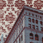 Chicago El Wallpaper Silk Screen Print Detail