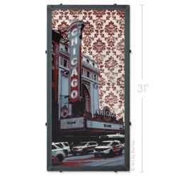 Chicago Theater Wallpaper Silk Screen Print