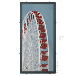 Navy Pier Ferris Wheel Silk Screen Print by Charlie Barton