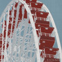 Navy Pier Ferris Wheel Silk Screen Print Detail