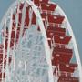 Navy Pier Ferris Wheel Silk Screen Print Detail